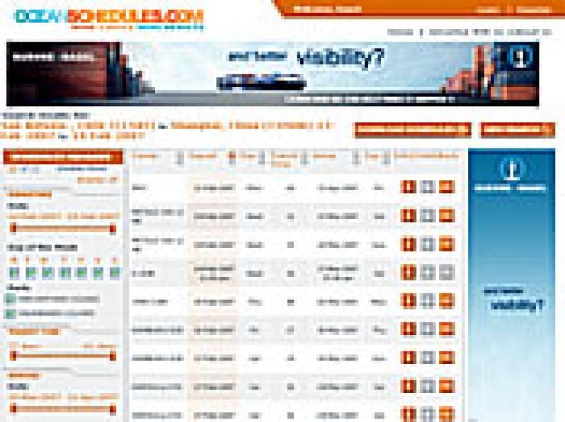 OceanSchedules providing Online Search - MundoMaritimo
